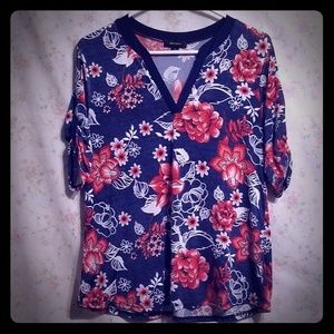 Embossed Floral Blouse